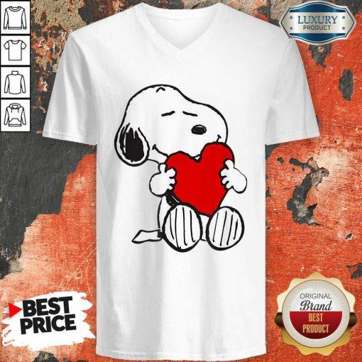 Snoopy Hug Heart Valentines Day V-neck - Desisn By Soyatees.com