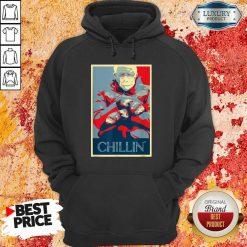 Jaded Bernie Sanders Mittens Meme 4 Chillin Hoodie - Design by Soyatees.com