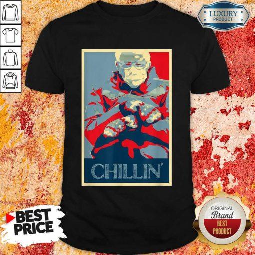Jaded Bernie Sanders Mittens Meme 4 Chillin Shirt - Design by Soyatees.com
