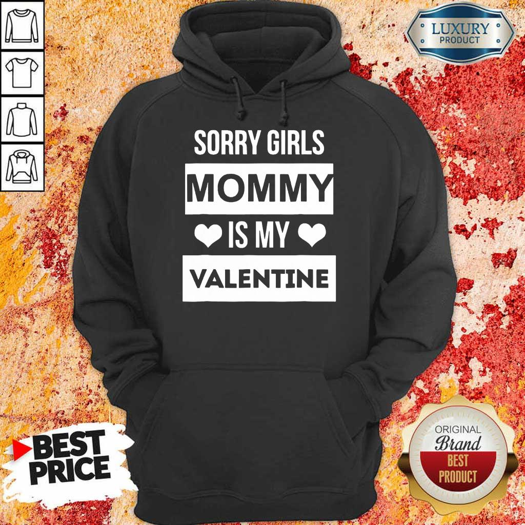 Negative Valentines Day Girls Mommy My Valentine 7 Hoodie