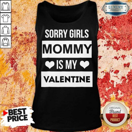 Negative Valentines Day Girls Mommy My Valentine 7 Tank Top