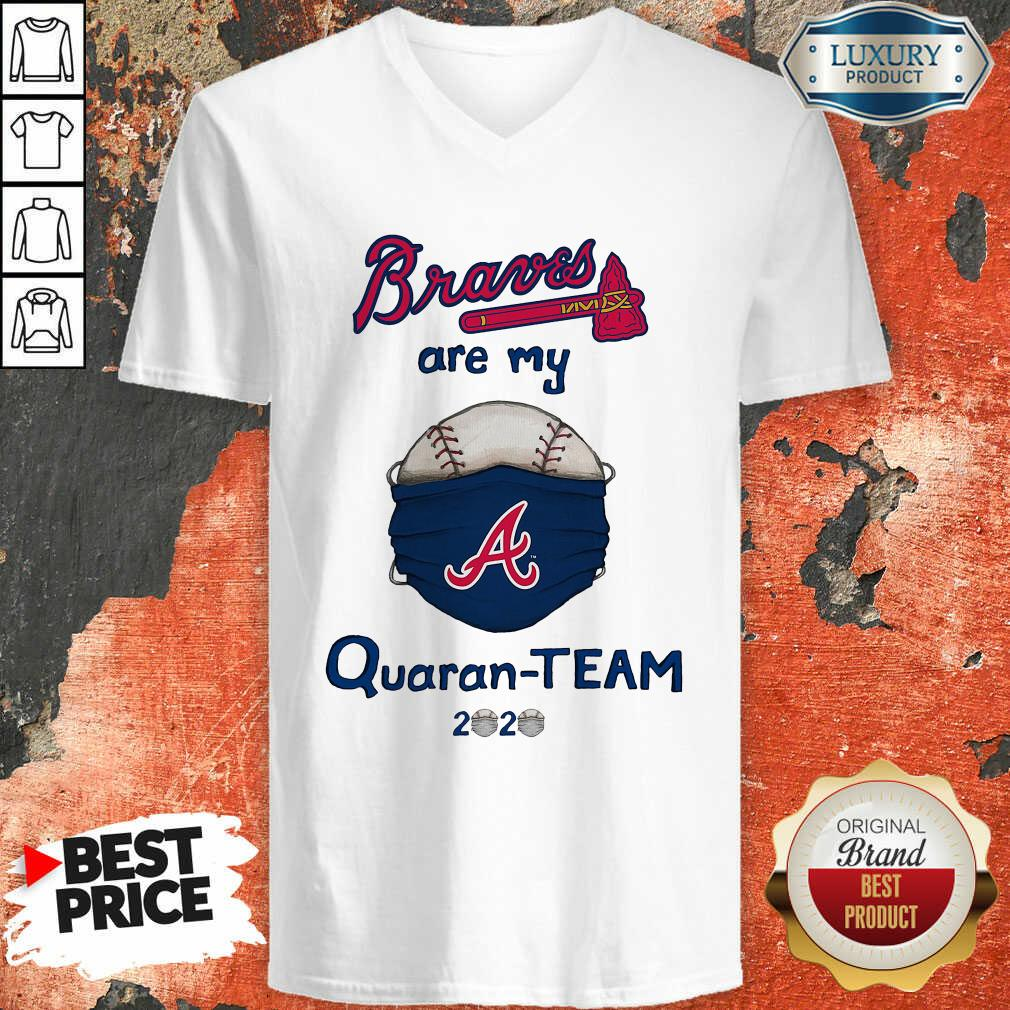 Atlanta Braves Are My Quaranteam 2020 V-neck - Desisn By Soyatees.com