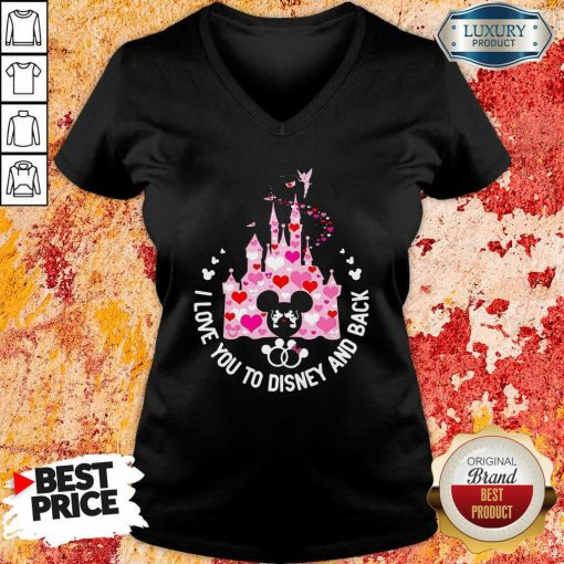 Mickey Mouse I Love You To Disney And Back V-neck - Desisn By Soyatees.com