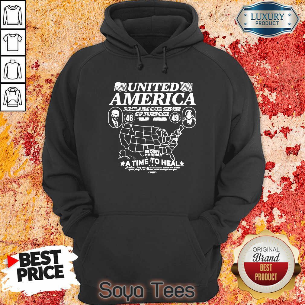 Original Biden Harris United America Reclaim Our Sense Of Pupose A Time To Heal Hoodie