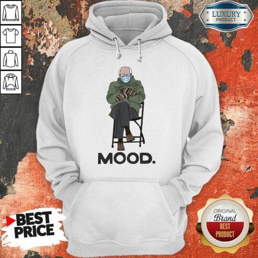 Relaxed Bernie Sanders 10 Mood Hoodie - Design by Soyatees.com