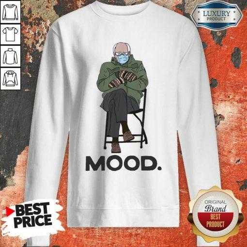 Relaxed Bernie Sanders 10 Mood Sweatshirt - Design by Soyatees.com
