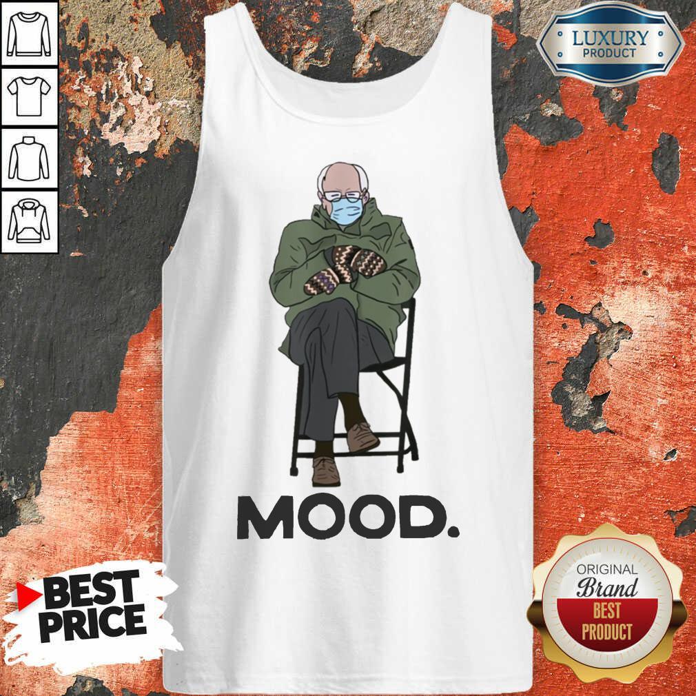 Relaxed Bernie Sanders 10 Mood Tank Top - Design by Soyatees.com