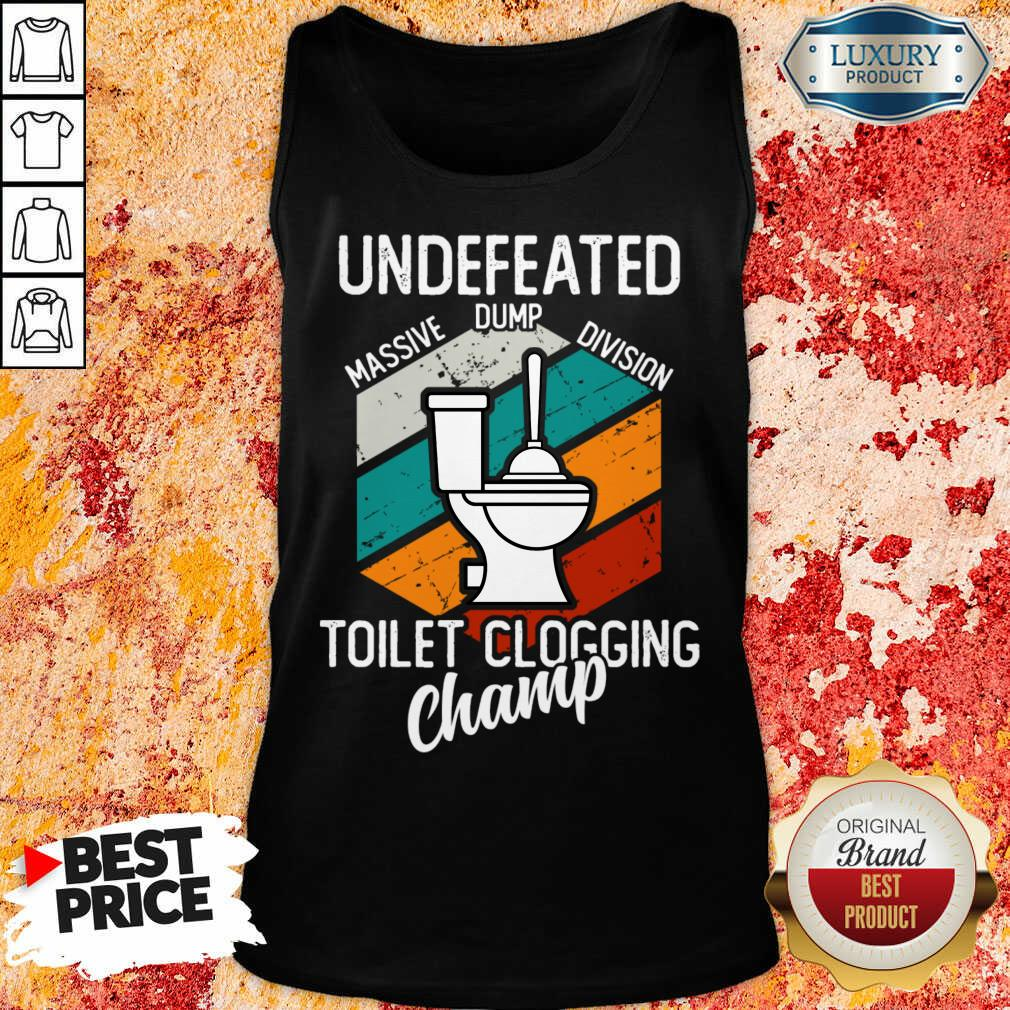 Surprised Undefeated Toilet Clogging 5 Champ Tank Top - Design by Soyatees.com