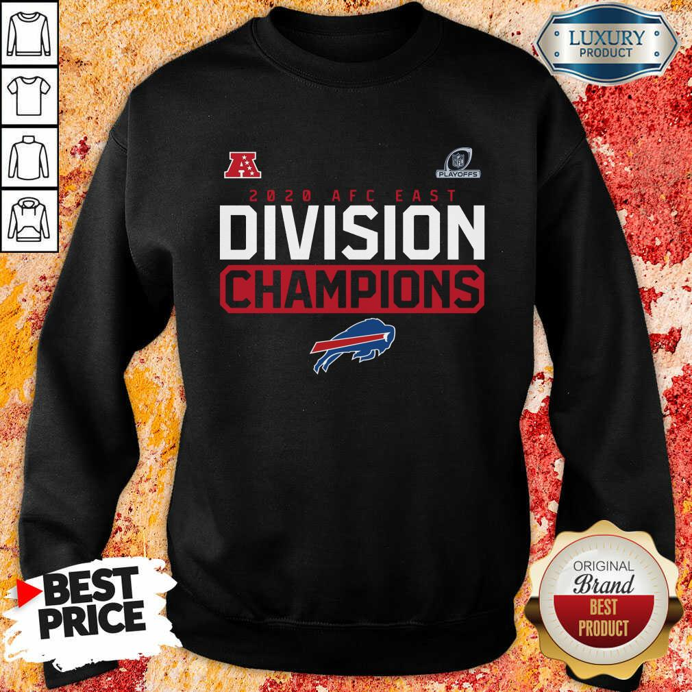 Suspicious Playoffs 2020 AFC East Division Champions 4 Buffalo Bills Sweatshirt - Design by Soyatees.com