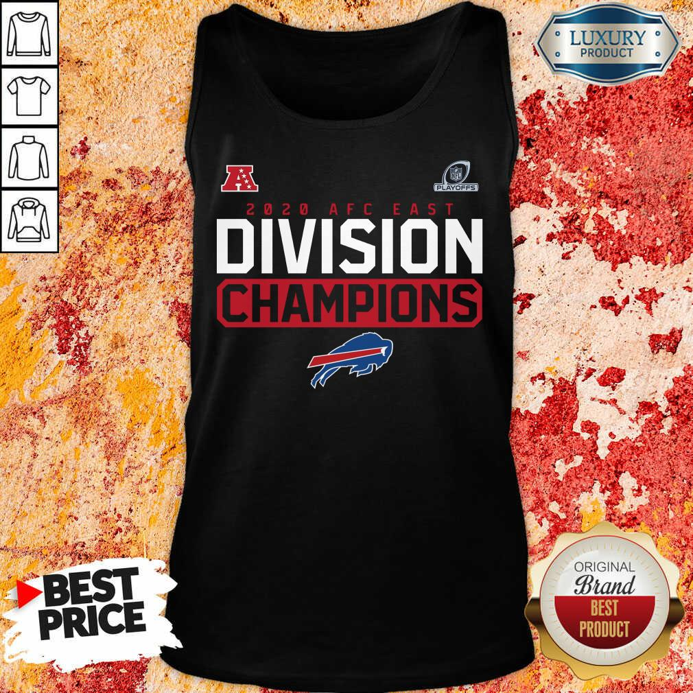 Suspicious Playoffs 2020 AFC East Division Champions 4 Buffalo Bills Tank Top - Design by Soyatees.com