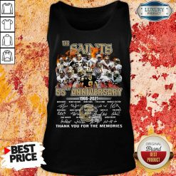 Tense New Orland Saints 55th Anniversary Tank Top