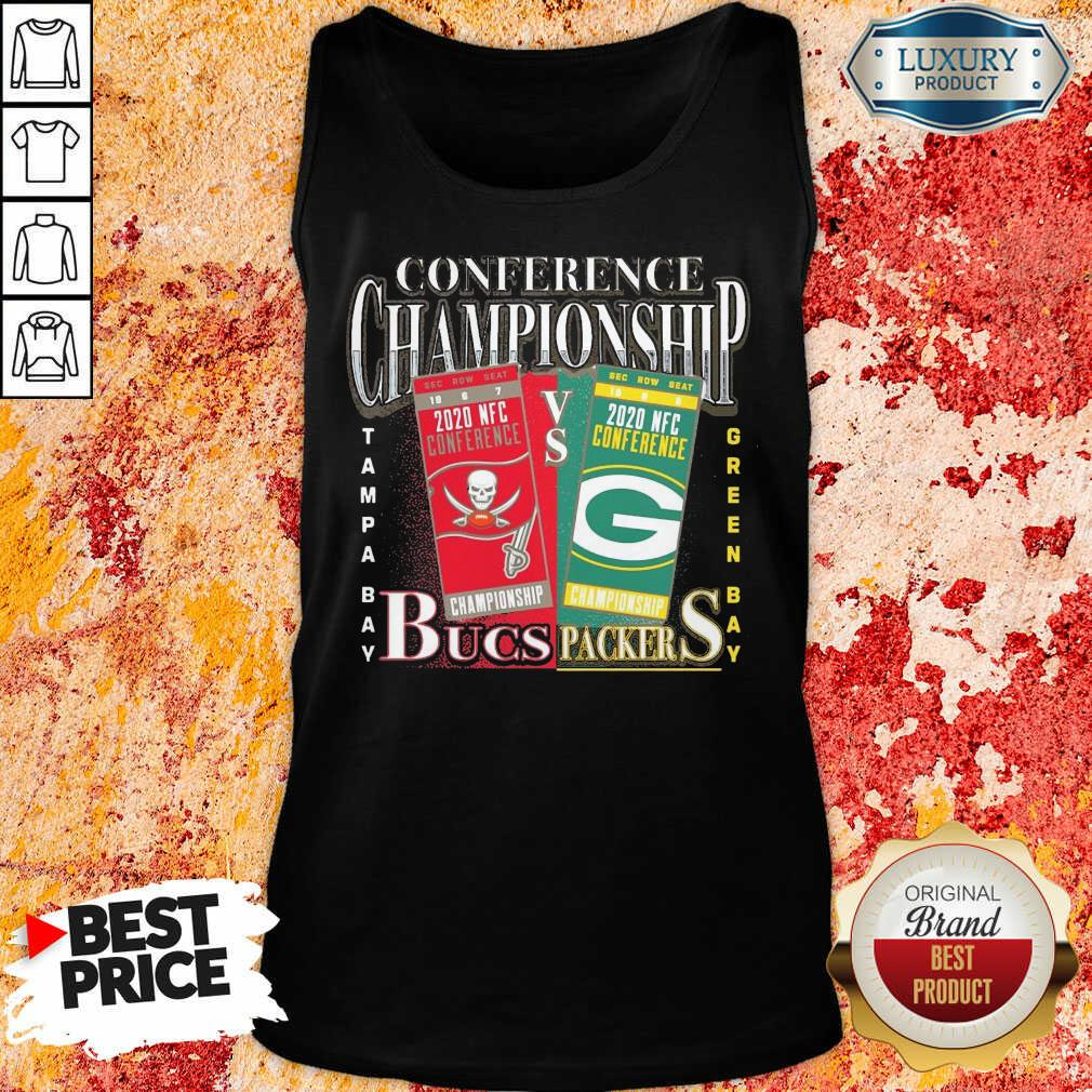 Terrible Green Bay Packers Vs Tampa Bay Buccaneers 2021 NFC Championship Tank Top - Design by Soyatees.com
