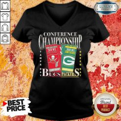 Terrible Green Bay Packers Vs Tampa Bay Buccaneers 2021 NFC Championship V-neck - Design by Soyatees.com