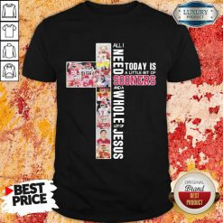 Terrified All I Need To Day Is A Little Bit Of Oklahoma 2 Sooners And A Whole Lot Of Jesus Shirt - Design by Soyatees.com