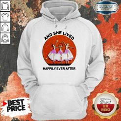 3 Ballet Girls And She Lived Happily Ever After Hoodie - Design by Soyatees.com