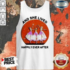 3 Ballet Girls And She Lived Happily Ever After Tank Top - Design by Soyatees.com