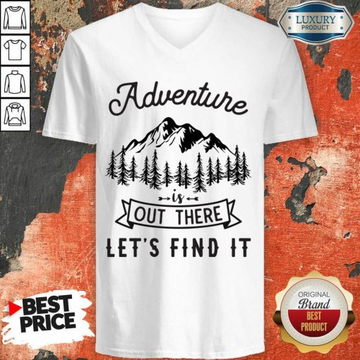Adventure Is Out There 5 Find It V-neck - Design by Soyatees.com