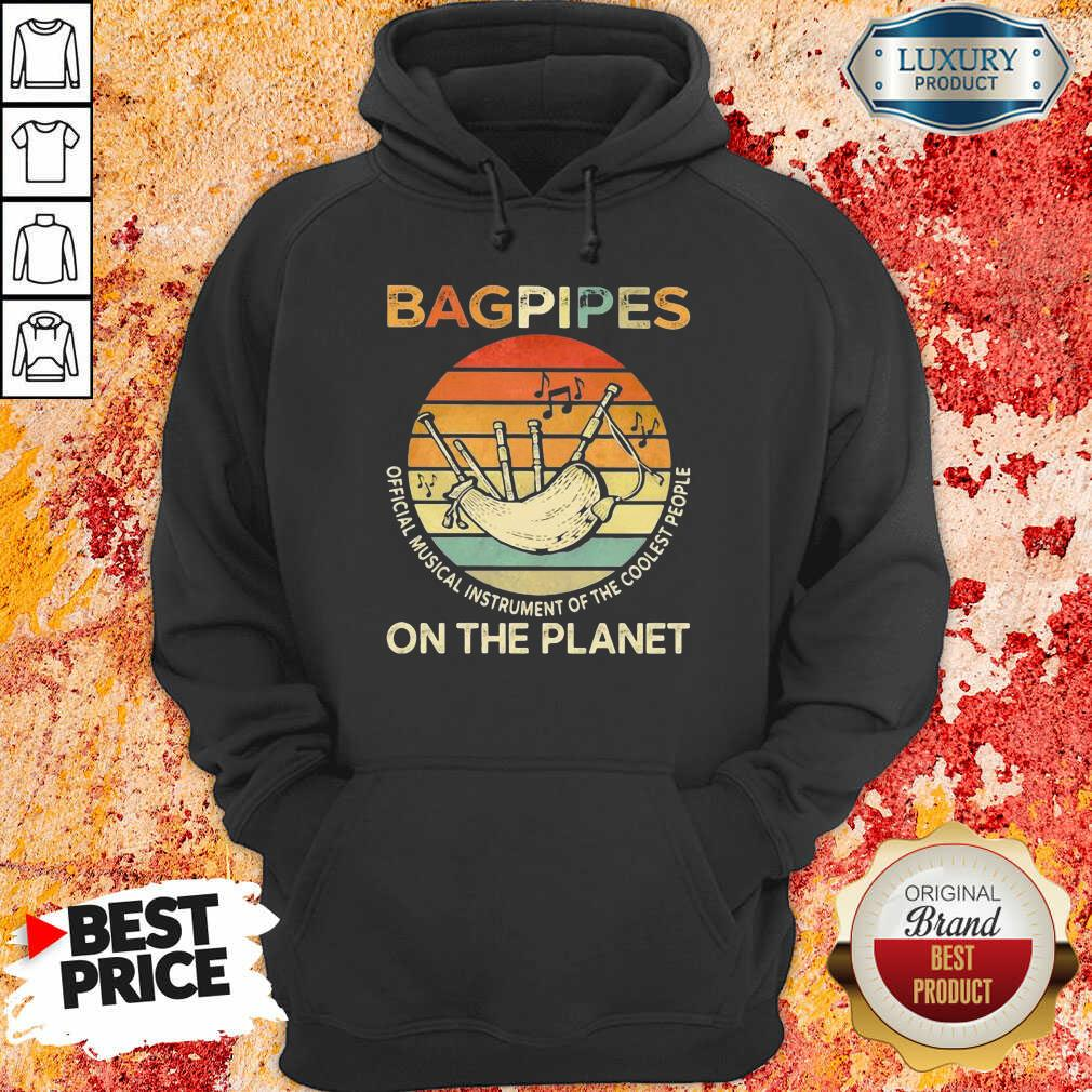 Bagpipes Musical Instrument 4 On The Planet Hoodie - Design by Soyatees.com