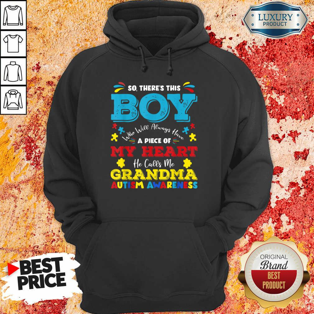 Boy Calls Me Grandma 9 Autism Awareness Hoodie - Design by Soyatees.com