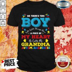 Boy Calls Me Grandma 9 Autism Awareness Shirt - Design by Soyatees.com