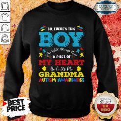 Boy Calls Me Grandma 9 Autism Awareness Sweatshirt - Design by Soyatees.com