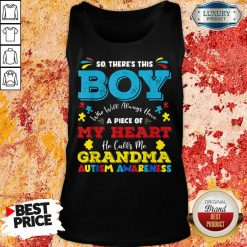 Boy Calls Me Grandma 9 Autism Awareness Tank Top - Design by Soyatees.com