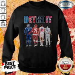 Detroit 4 Stafford Larkin Griffin Mize Signatures Sweatshirt - Design by Soyatees.com