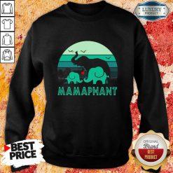 Hot Elephant Mamaphant Mothers Day Sweatshirt