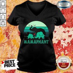 Hot Elephant Mamaphant Mothers Day V-neck
