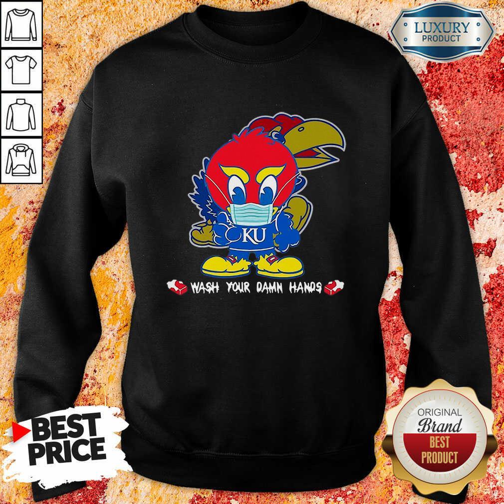 Hot Kansas Jayhawks Damn Hands Covid-19 Sweatshirt
