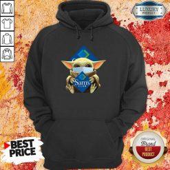 Hot Star Baby Yoda Mask Hug Sams Club Covid-19 Hoodie