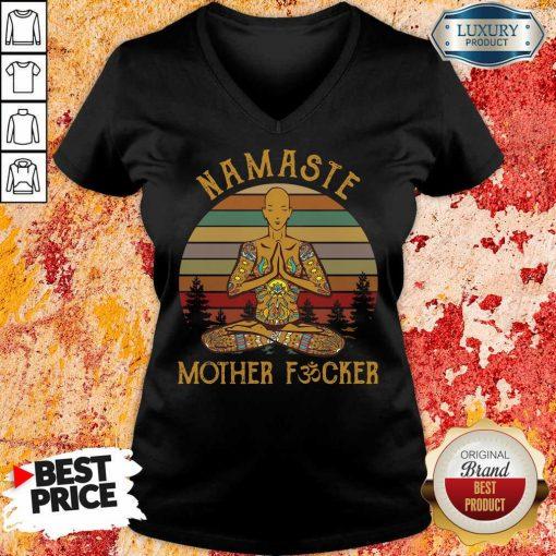 Hot Yoga Namaste Mother Fucker V-neck