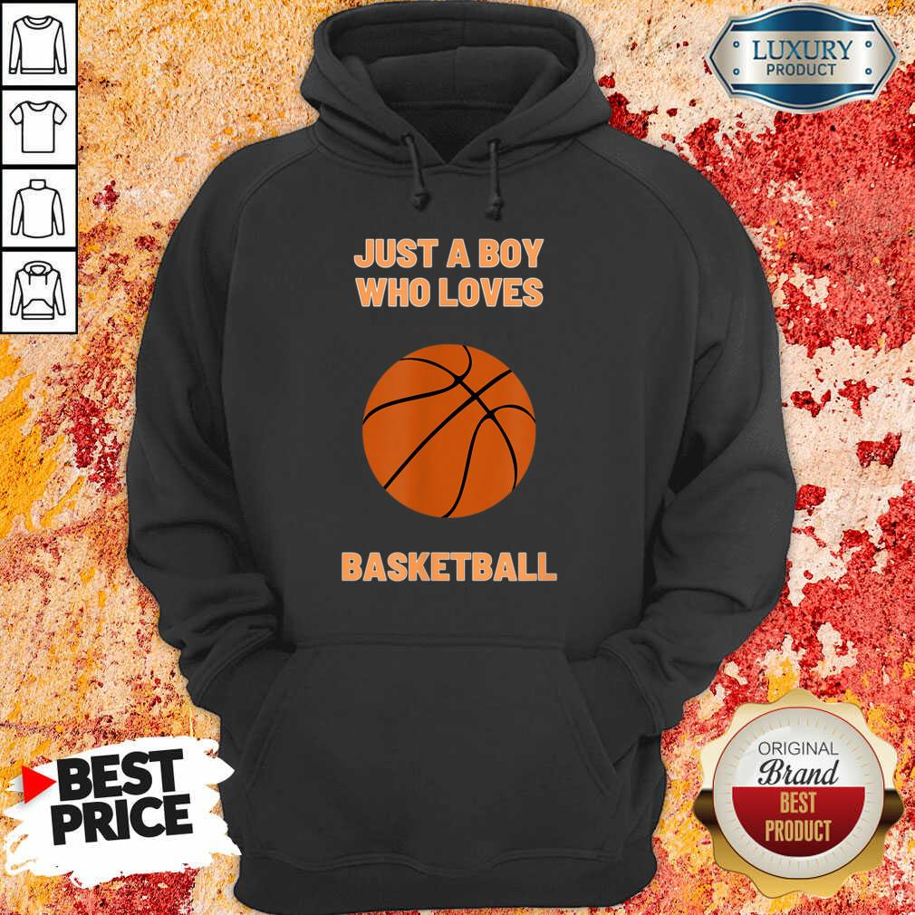 Just A Boy Who Loves 1 Basketball Hoodie - Design by Soyatees.com