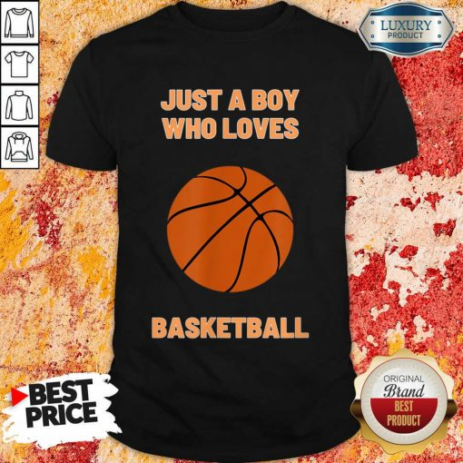 Just A Boy Who Loves 1 Basketball Shirt - Design by Soyatees.com