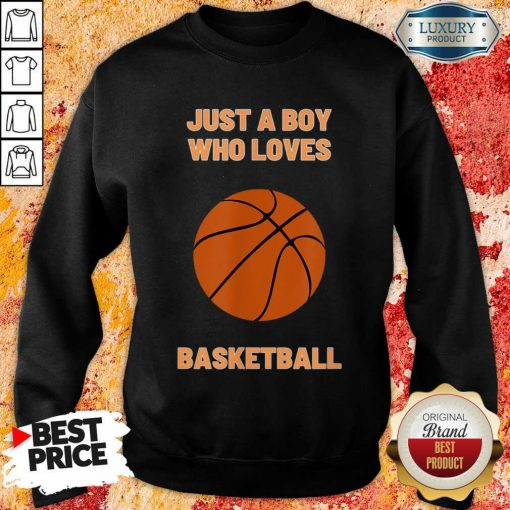 Just A Boy Who Loves 1 Basketball Sweatshirt - Design by Soyatees.com