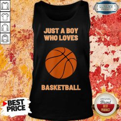 Just A Boy Who Loves 1 Basketball Tank Top - Design by Soyatees.com