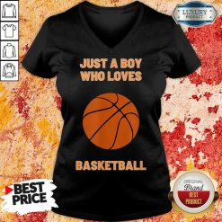 Just A Boy Who Loves 1 Basketball V-neck - Design by Soyatees.com