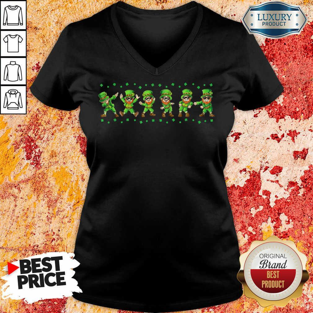 Leprechauns 6 Dancing St Patricks Day V-neck - Design by Soyatees.com