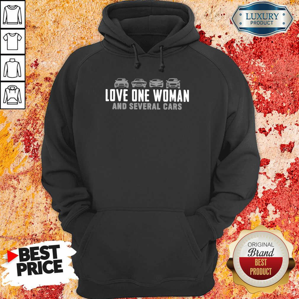Love One Woman And 1 Several Cars Hoodie - Design by Soyatees.com