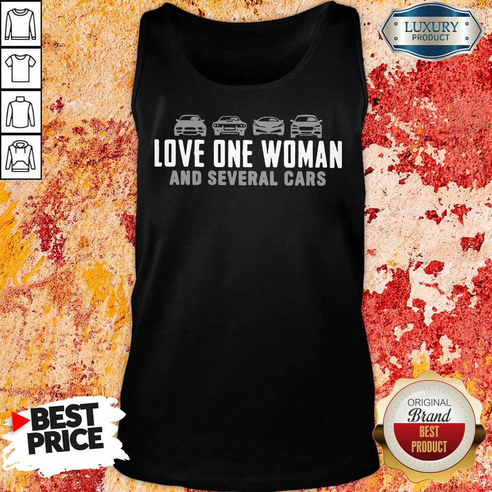 Love One Woman And 1 Several Cars Tank Top - Design by Soyatees.com