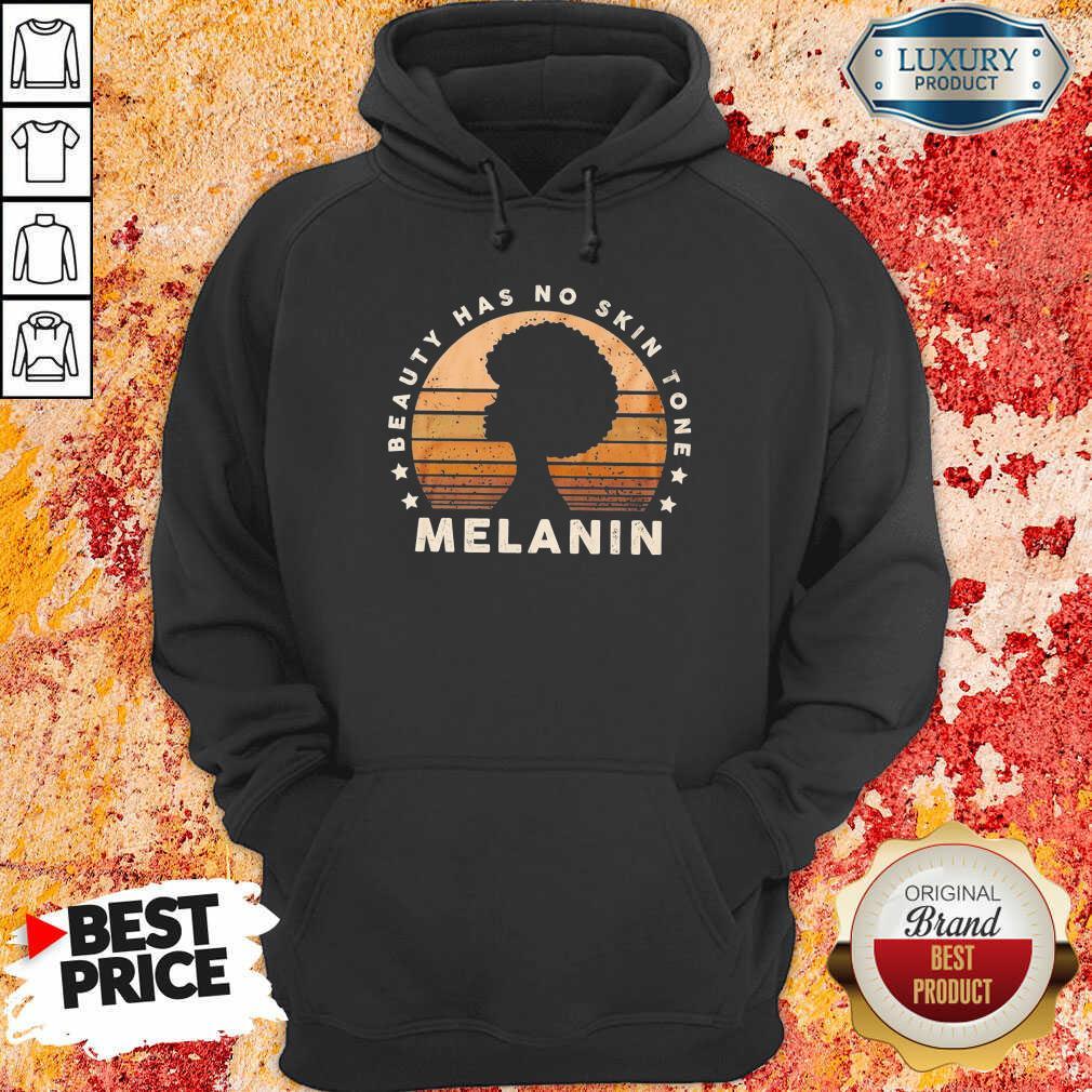 Melanin Beauty Has No 3 Skin Tone Vintage Hoodie - Design by Soyatees.com