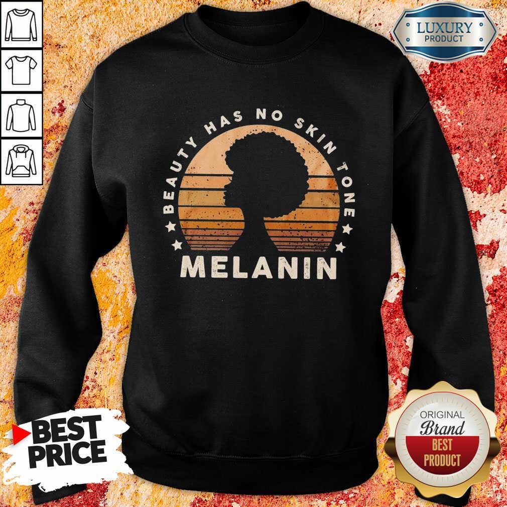 Melanin Beauty Has No 3 Skin Tone Vintage Sweatshirt - Design by Soyatees.com