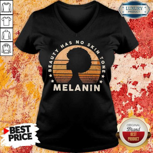 Melanin Beauty Has No 3 Skin Tone Vintage V-neck - Design by Soyatees.com