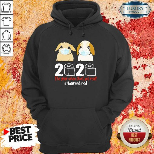 Nice Bunny 2020 The Year When Shit Got Real Hoodie