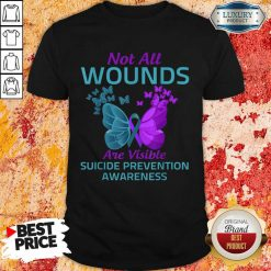 Not All Wounds Are Visible Suicide 7 Awareness Shirt - Design by Soyatees.com