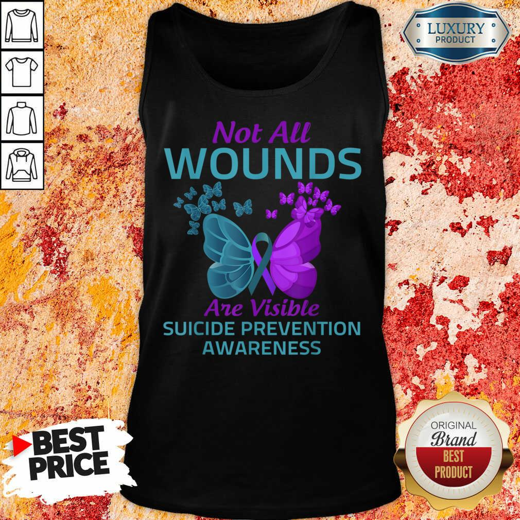 Not All Wounds Are Visible Suicide 7 Awareness Tank Top - Design by Soyatees.com