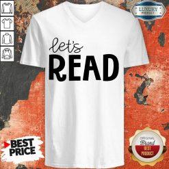 Excellent Librarian Lets Read V-neck