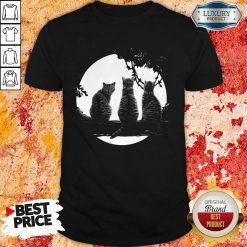 Nice Three Cats Under The Moon Shirt
