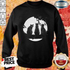 Nice Three Cats Under The Moon Sweatshirt