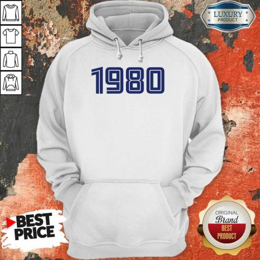 Perfect Personalised Year 1980 Hoodie
